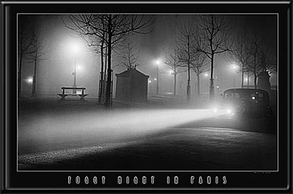 Foggy Night In Paris Electric Art Picture
